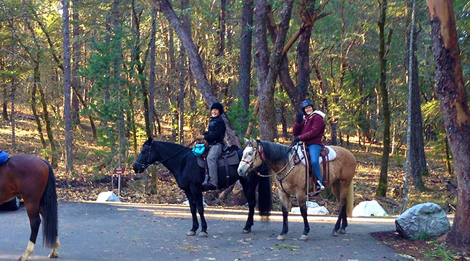 Cathedral Hills is a favorite of equestrians. These happy riders found miles of good trail close to home on a cold New Years Day.