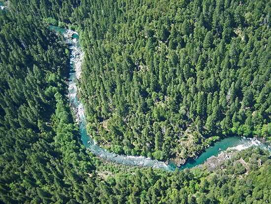 The mining claim on this part of the Chetco River was forfeited in 2010 (USDA FS Photo)