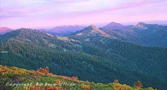 Craggy Mt. as seen from Mt. Elijah (Oregon Caves Revitalization Act) (Barbara Ullian photo).